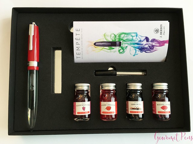 Review J. Herbin Tempête Fountain Pen Gift Set @NoteMakerTweets2
