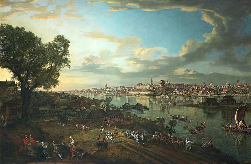 Bernardo Bellotto - View of Warsaw from Praga (1770)