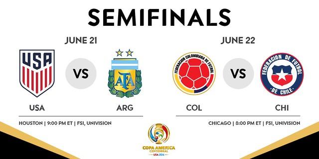 Copa América Centenario: SemiFinales