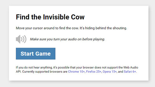 Find the Invisible Cow