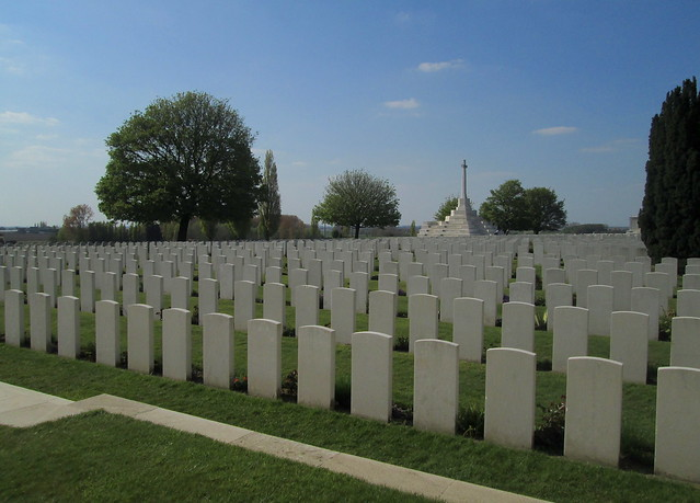 Graves and Memorial Cross, Tyne Cot Cemetery
