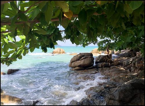 Rocks - High Tide at Laem Ka Beach
