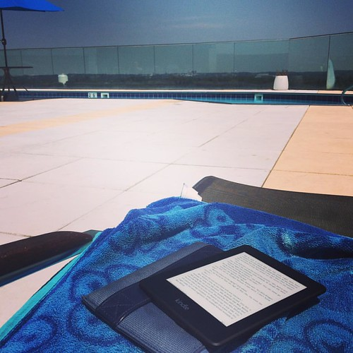 A good book by the pool. Summer is officially here.