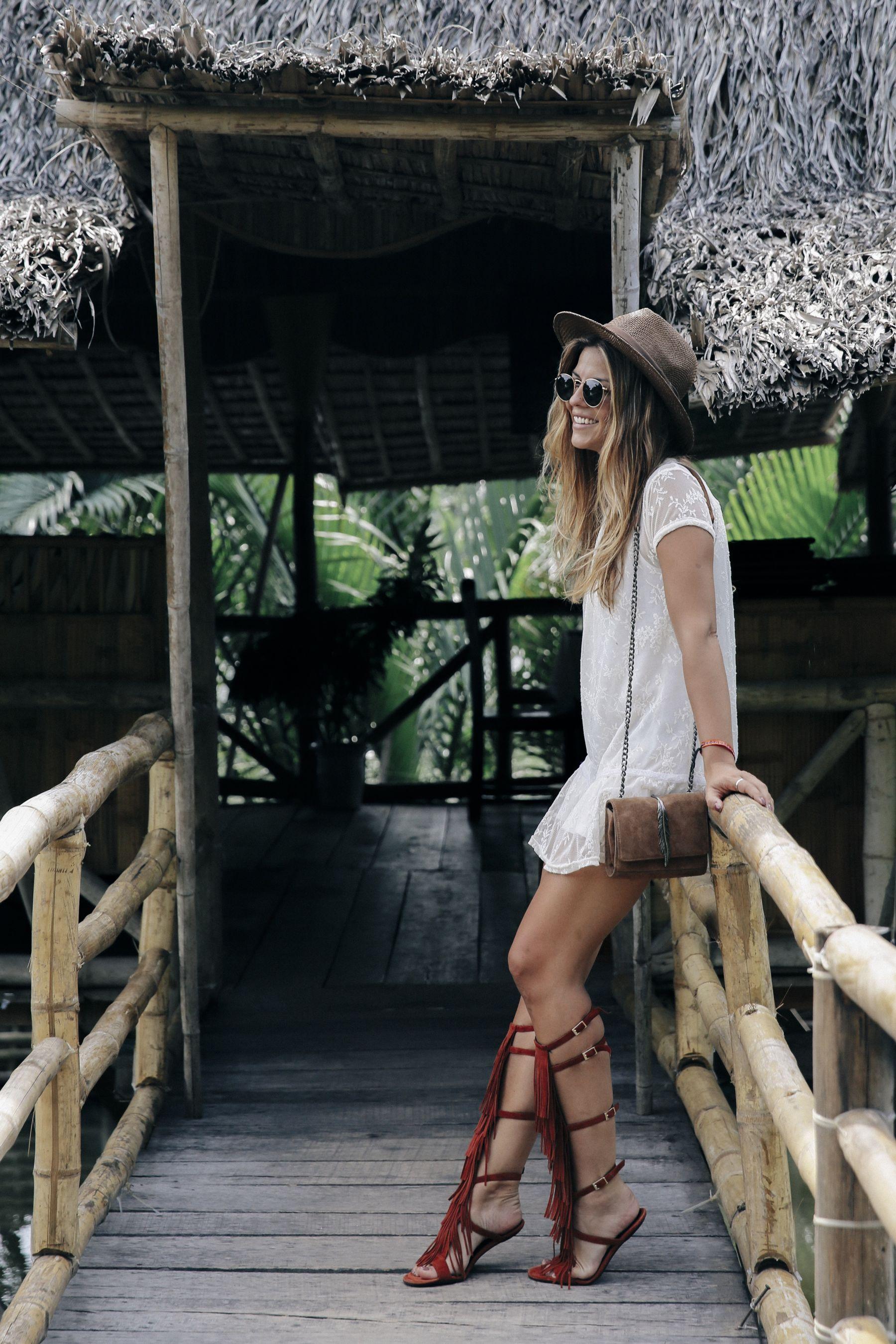 outfit look primavera spring street style trendy taste verano summer vestido dress sandalias  sandals gafas sunglasses_13