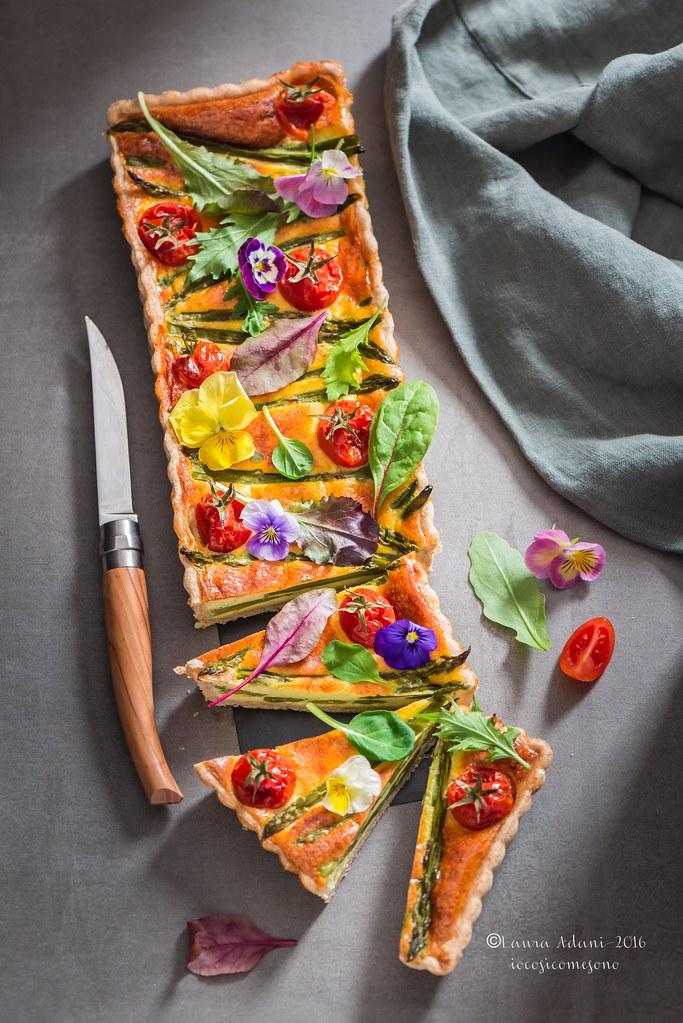 Quiche agli asparagi e pomodorini
