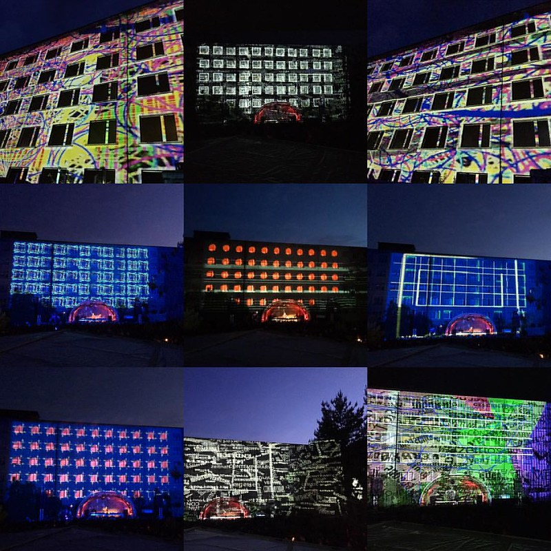 Great first night at Prora yesterday - Herdamit Festival (Binz/ Rügen) tonight again!! #philippgeist #videogeist #projectionmapping #rügen #lightart #herdamitfestival #herdamit #hiddenplaces