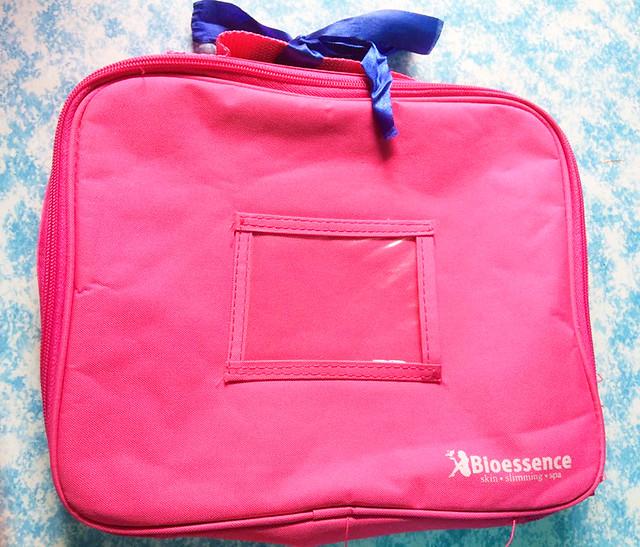 Bioessence-pink-vanity-bag