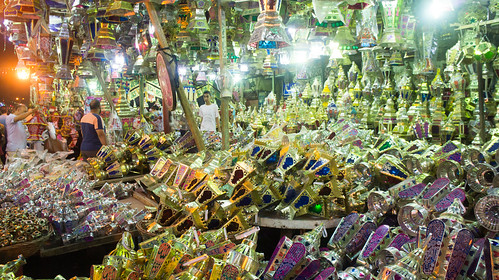 Traditional lanterns everywhere