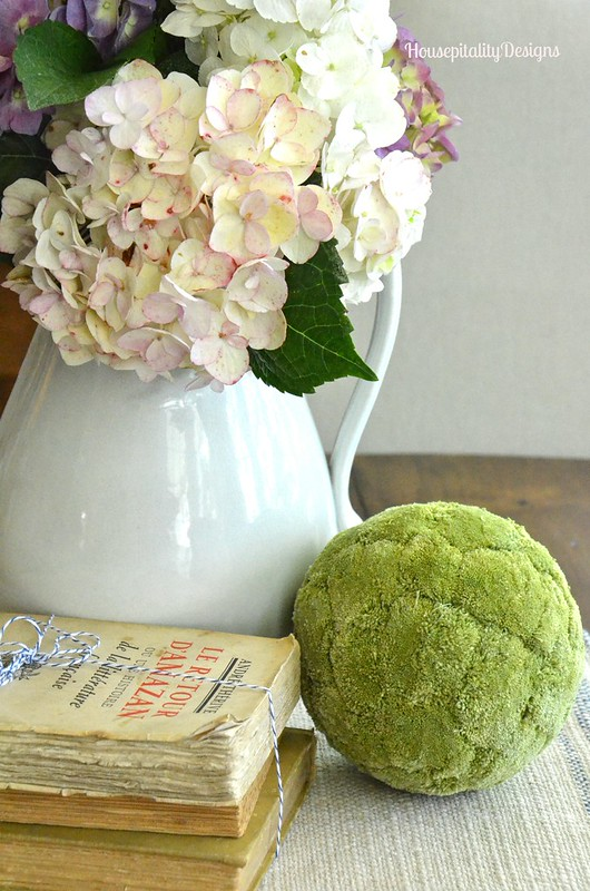 Ironstone Pitcher of Hydrangeas - Housepitality Designs