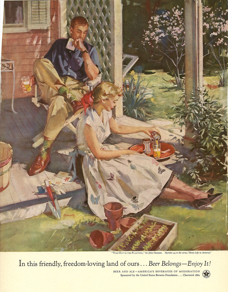 094. Time Out In the Planting by John Gannam, 1954