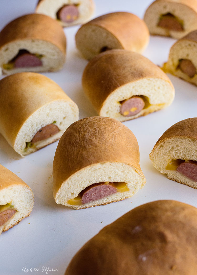 kolaches are a sweet dough wrapped around pretty much anything you want, our favorite meats and cheese - recipe and video tutorial