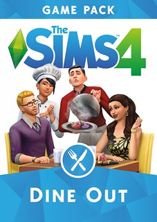 Sims 4 Dine Out Box Art