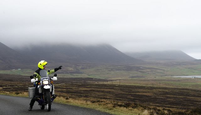 Faither on his R100GS PD somewhere on Hoy, Orkney.