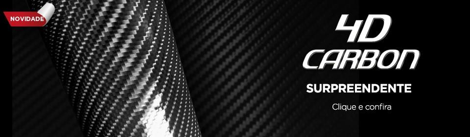 Adesivo Fibra Carbono 4D - Foscauto Adesivos