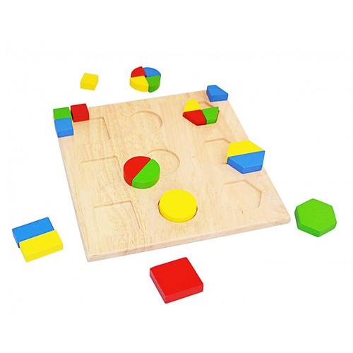 Đồ chơi gỗ - Hình học -  Tấm ghép hình học mẫu 1