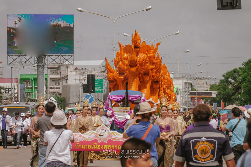 Thai tradition Candle procession