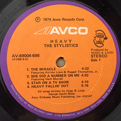 THE STYLISTICS:HEAVY(LABEL SIDE-A)