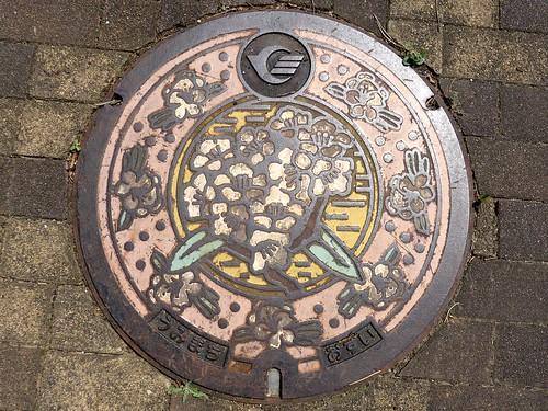 Umi Fukuoka, manhole cover (福岡県宇美町のマンホール)
