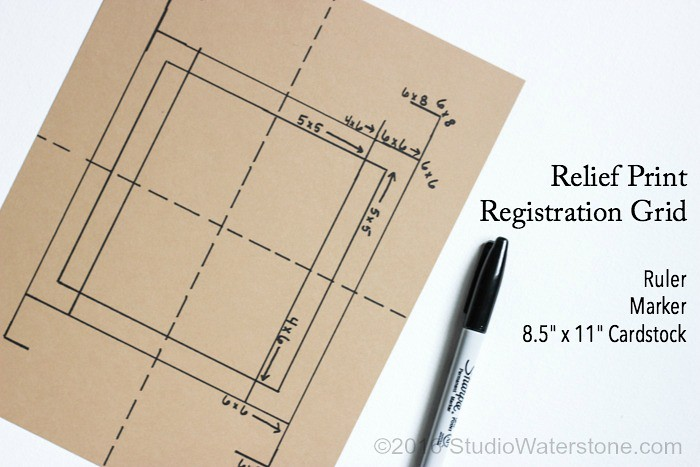 DIY Simple Relief Print Registration