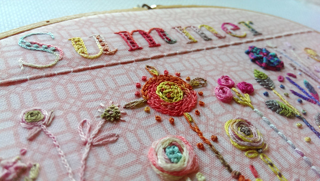 closeup on Summer hoop
