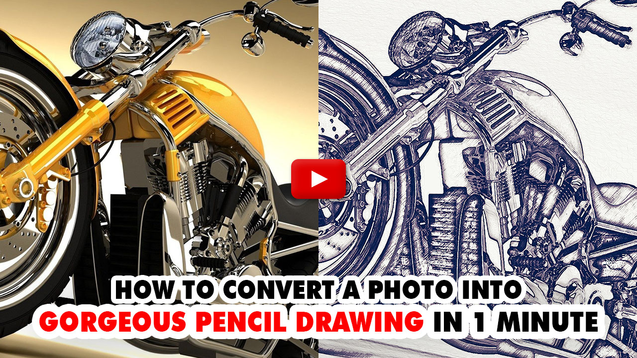 Gorgeous Pencil Drawing Photoshop Action