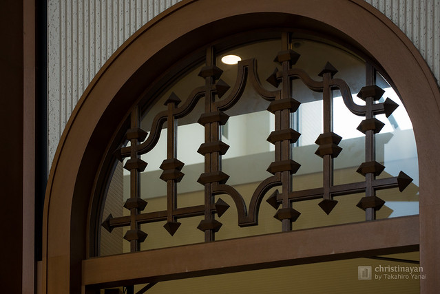 Detail of Meiji University, Tatsuo Kishimoto Hall (明治大学 岸本辰雄ホール)