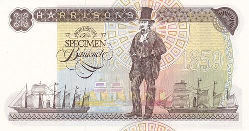 Isambard Kingdom Brunel specimen banknote back