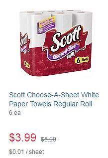 Scott Paper Towels at Walgreens