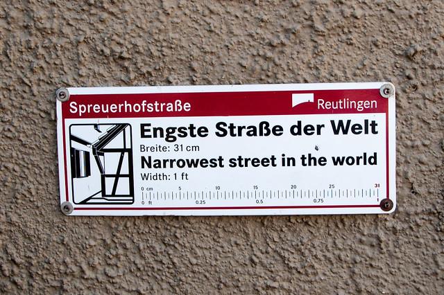 Spreuerhofstraße, la rue la plus étroite du monde !