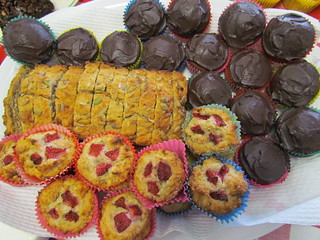 Banana Bread; Banana Strawberry Muffins; Chocolate Cupcakes