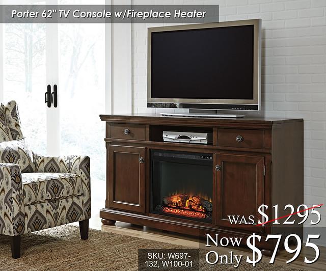 Porter 62in TV Console wFire W697-132-W100-01