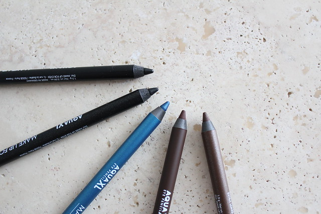 Make Up For Ever AQUA XL Eye Pencils review and swatches