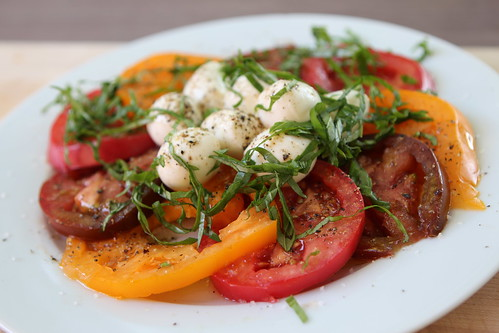 First Heirloom Tomato Salad of the Season