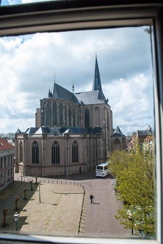 Looking down toward the Bovenkerk