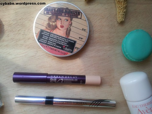 T-B: Mary Loumanizer, Urban Decay Concealer Pencil, Physicians Formula Eye Booster Eyeliner