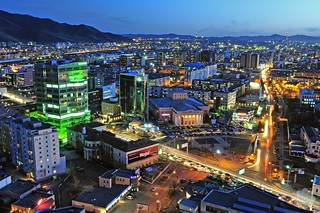 Night in the Ulaanbaatar
