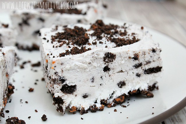 These super easy no bake OREO cream pie bars are the perfect party dessert! They only take 4 ingredients and come together so easy!