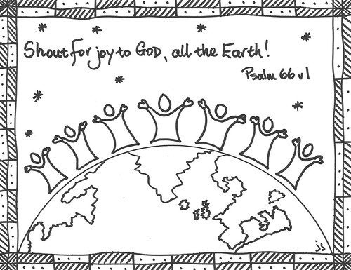 Psalm 66 coloring sheet