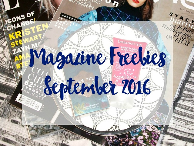 September 2016 Magazine Freebies