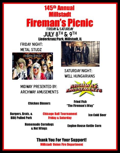 Millstadt Fireman's Picnic 7-8, 7-9-16