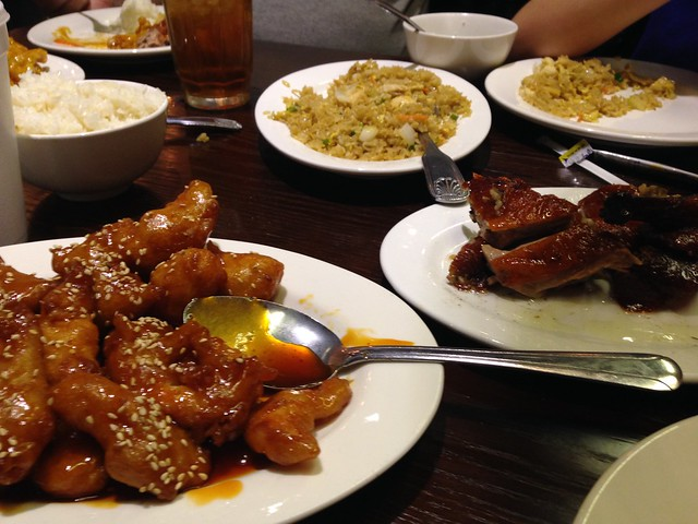 General Tsao, Fried Rice, Duck at Red Pearl Chinese Restaurant, Birmingham