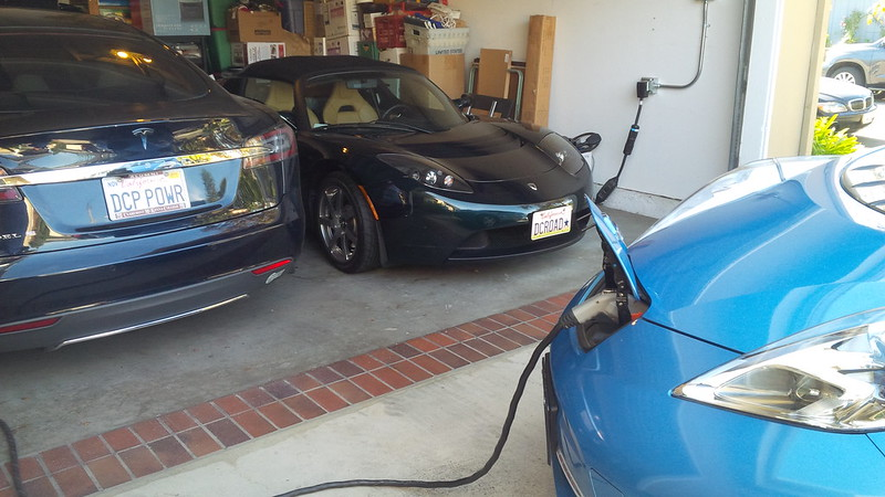 Looks like the Family is complete... we can start Thanksgiving lunch! (3 EVs in our garage/driveway)