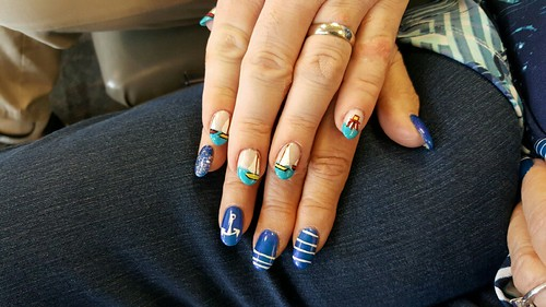 Fingernails against sadness