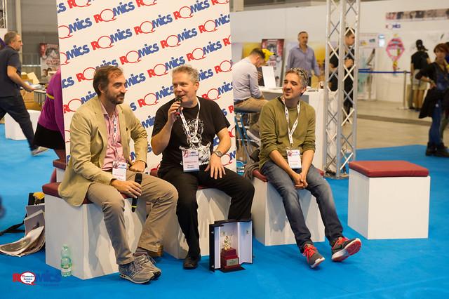 Moreno Burattini, Romics D'Oro 2016, e Alessandro Piccinelli, nuovo copertinista di Zagor