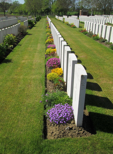 Hooge Crater Cemetery Line of Graves