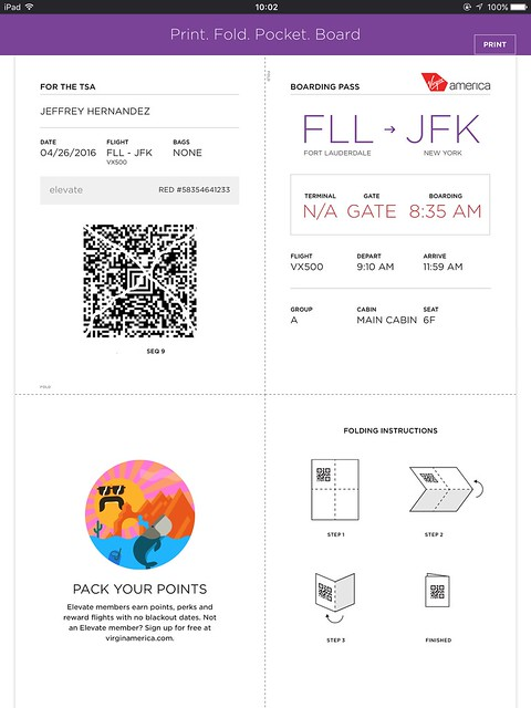 how to print virgin boarding pass