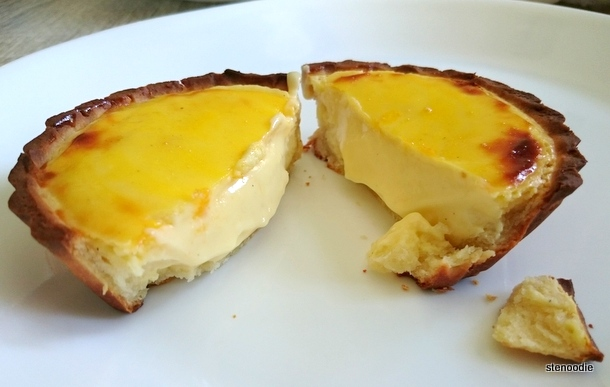 Twice-Baked Rare Cheese Tart cut open