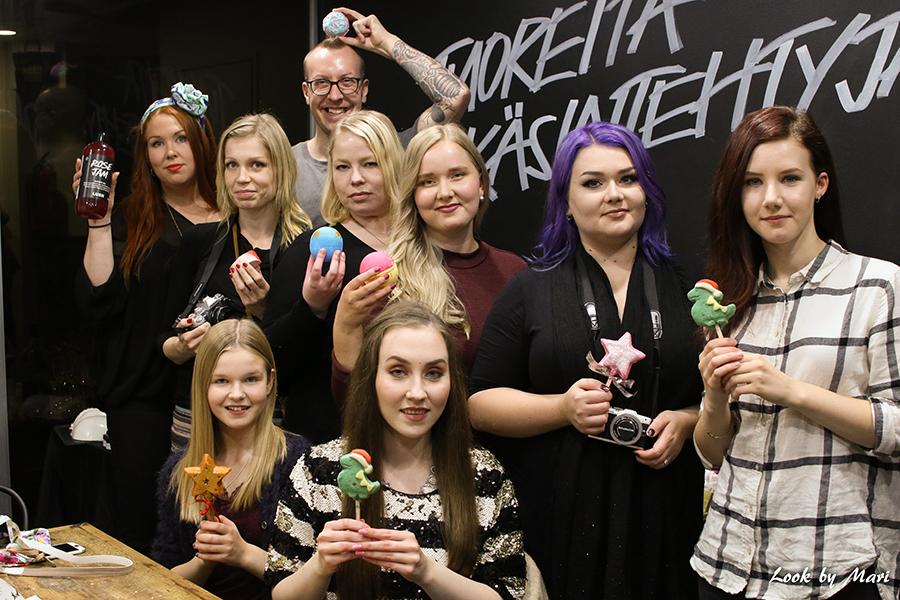21 lush suomi finland perjantai 30.9 bloggaajien ilta joulu halloween tuotteet
