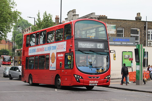 Metroline VW1255 on Route E8, Ealing Broadway