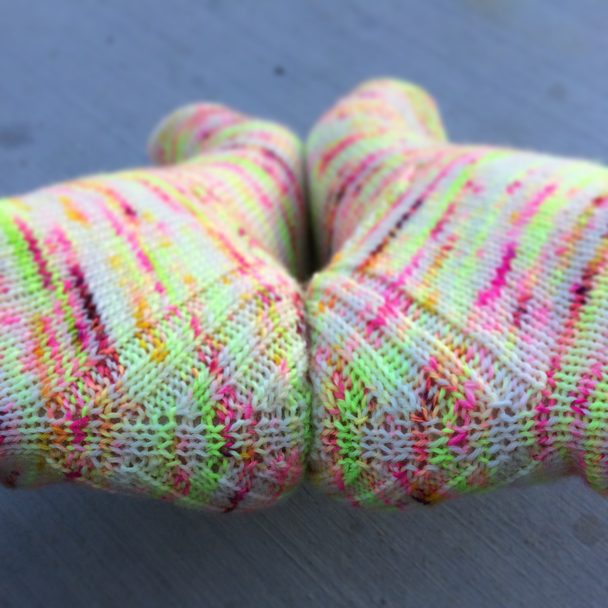 Sock knitting: Vanilla is the new black